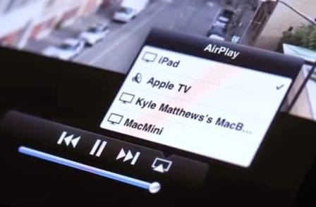 активизация AirPlay